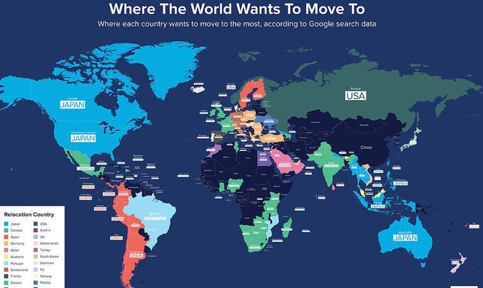 10 quốc gia du khách muốn tới sống nhất