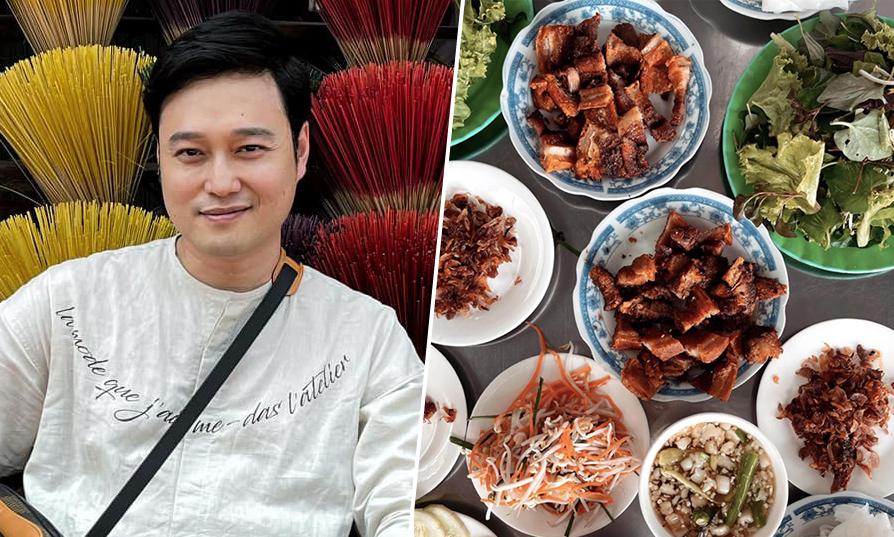 Quang Vinh 'đắm chìm' trong tour ẩm thực xứ Huế