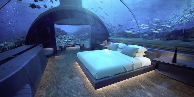 7 khách sạn cho khách ngủ dưới nước