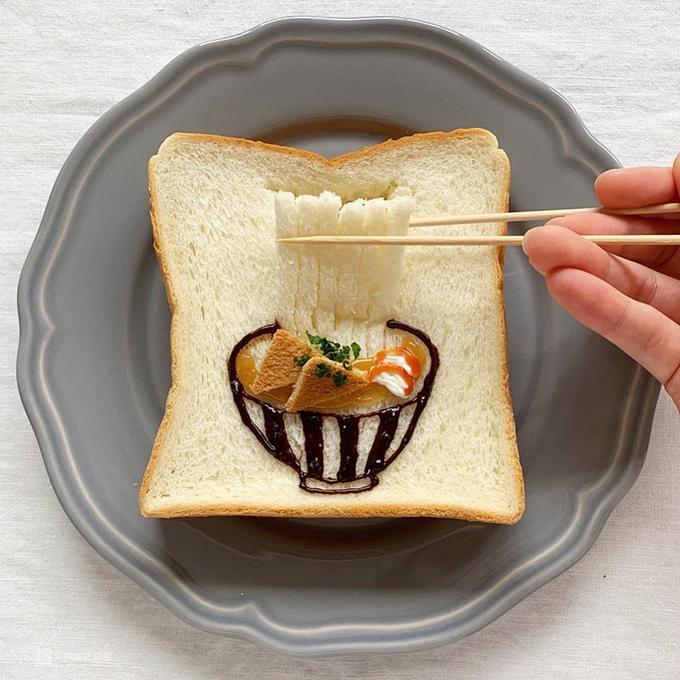 Đủ món ăn Nhật Bản từ lát bánh mì sandwich