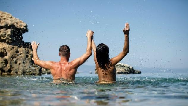Những du khách có sở thích tắm khỏa thân