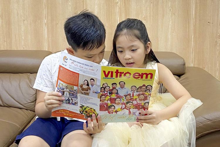 """Ra mắt ấn phẩm báo chí """"Vì Trẻ Em"""""""