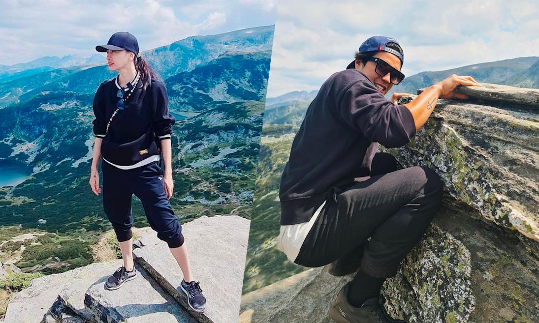 Huy Trần đưa Ngô Thanh Vân leo núi nổi tiếng ở Bulgaria