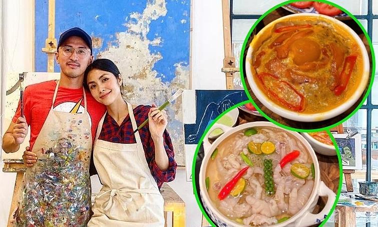 Vợ chồng Tăng Thanh Hà ghiền chân gà, mắm chưng