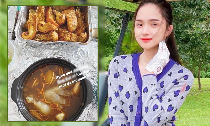 Hương Giang Idol ăn súp bào ngư tẩm bổ